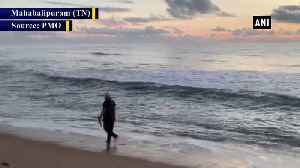 News video: Watch PM Modi exercises at scenic Mamallapuram beach