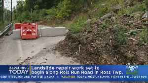 Landslide Repair Work To Begin On Reis Run Rd. In Ross Township [Video]