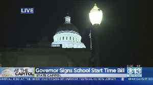 Gov. Newsom Signs School Time Start Bill [Video]