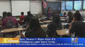 Later Start Times For California Middle, High Students Signed Into Law [Video]