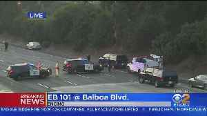 All Lanes Of Eastbound 101 Freeway In Encino Closed For Fatal Crash Investigation [Video]