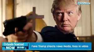 News video: Fake Trump shoots foes on meme video shown at his Florida resort