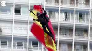 WEB EXTRA: Parachutist Crashes Into Lamp Post [Video]