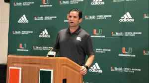 Manny Diaz on what he's seen at halfway point of first season as head coach [Video]