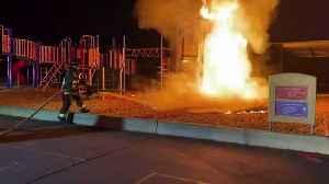 Elementary School Playground Set on Fire Intentionally, Investigators Say [Video]