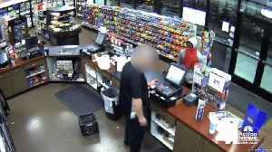Surveillance video captures suspect in Northland gas station robbery [Video]