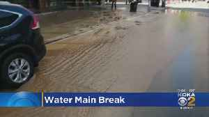 Downtown Water Main Break Floods Liberty Avenue [Video]