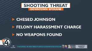 Spokane Police: Man arrested for mass shooting threats at downtown business [Video]
