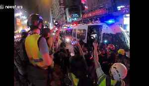 Homemade bomb detonated for first time in Hong Kong protests [Video]