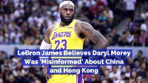 News video: LeBron James Talks Daryl Morey Tweets