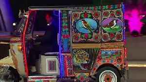 William and Kate take rickshaw to commission reception [Video]