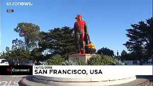Christopher Columbus statue vandalised with red paint in San Francisco [Video]