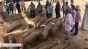 Ancient Sealed Coffins Discovered In Egypt [Video]