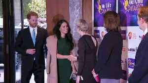Harry and Meghan meet the winners at the WellChild awards [Video]