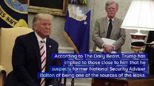 News video: Trump Thinks John Bolton Is Behind Some Ukraine Leaks