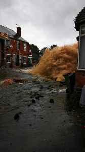 Broken Water Main Causes Major Damage [Video]