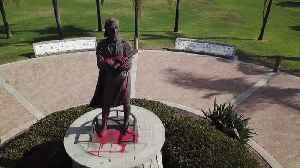 Christopher Columbus Statue Vandalized for Second Time in San Diego Park [Video]