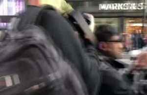 News video: Climate change protester dressed as broccoli arrested in UK