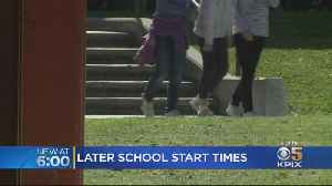 Governor Signs Law To Push Back School Start Times [Video]