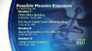Officials Warn Residents Of Possible Measles Exposure At Several Allentown Locations [Video]