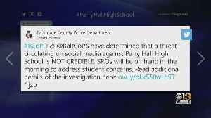 Threat Against Baltimore County High School Deemed Not Credible [Video]