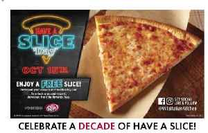 Free cheese pizza slices today [Video]