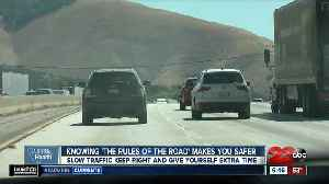 California Health: Knowing the Rules of the Road will help you drive safer over Grapevine [Video]