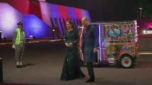 Glamorous rickshaw transports Duke and Duchess of Cambridge to Pakistan reception