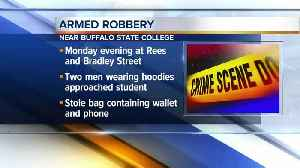 News video: Police investigate armed robbery near Buffalo State College campus