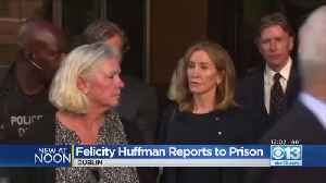 Felicity Huffman Reports To Jail In Dublin [Video]
