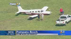 Plane Skids Off Runway In Pompano Beach [Video]