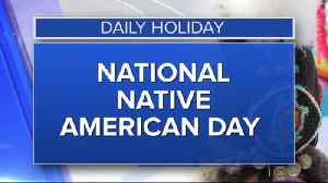Daily Holiday - National Native American day [Video]