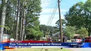 News video: Huntsville Fire & Rescue saves man stuck in tree