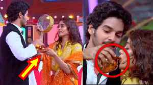 Janhvi Kapoor Ishaan Khattar CELEBRATE Karva Chauth In Bollywood STYLE [Video]