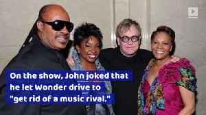 Elton John Let Stevie Wonder Drive a Snowmobile by Himself [Video]