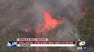 Evacuations lifted after crews knock down Talmadge fire [Video]