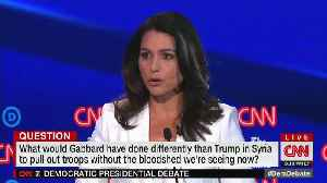 Gabbard Calls Out CNN During Their Debate For Smearing Her Candidacy [Video]