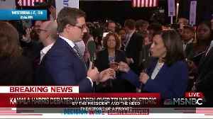 Kamala Harris tells MSNBC Chris Hayes she wants to ban Trump from Twitter [Video]