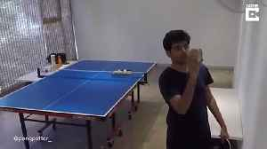 DEDICATED PING-PONG PLAYER SPENDS HOURS MASTERING AMAZING TRICK-SHOTS [Video]
