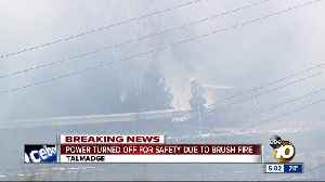 Talmadge brush fire forces power outage for 4,000 customers [Video]