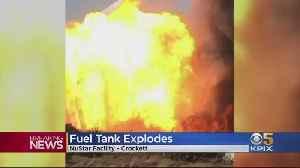 Fuel Tank Explosion In Concord Causes Massive Fire, Shuts Down I-80 [Video]