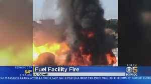 Investigation Underway Into Massive Fire At Fuel Facility In Crockett [Video]