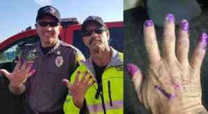 Little Girl Paints Firefighters' Nails After Crash in Utah [Video]