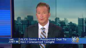 ALCS Game 4 Postponed Due To Rain Forecast For Wednesday Night [Video]