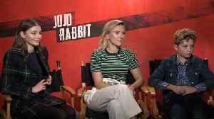 Scarlett Johansson Talks 'Jojo Rabbit' Awards Buzz [Video]