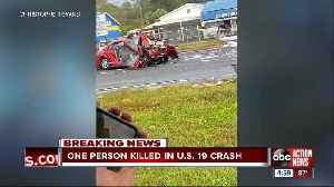 Fatal multi-vehicle crash shuts down southbound US-19 in Hudson [Video]
