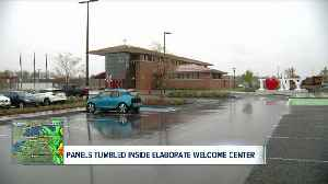 Ceiling panels tumble from new Welcome Center in Grand Island [Video]