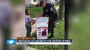 Milwaukee Police Department officer buys car seats instead of giving ticket [Video]
