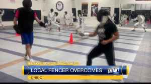 Local fencer overcomes [Video]