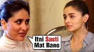 Kareena Kapoor Khan Gives A SPECIAL ADVICE To Alia Bhatt [Video]